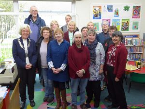 Group photo of St Just Town Councillors and library staff